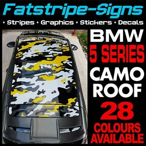 BMW 5 SERIES CAMO ROOF GRAPHICS STRIPES STICKERS M5 GT M SPORT SALOON TOURING