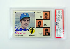 Jack McKeon 1973 Topps Signed Autograph Rookie Card RC Slabbed PSA/DNA COA