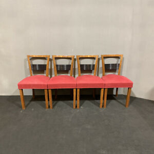Antique Set Of Chairs Deco Period 1930 About