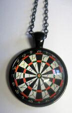 Halskette Darts Necklace Dart Anhänger Dartscheibe Dartboard
