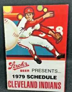 1979 Cleveland Indians Baseball Schedule Stroh's Beer