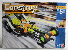 RARE VINTAGE 1996 CONSTRUX DRAGSTERS BUILDING SET 5 MODELS MATTEL NEW !