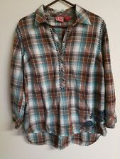 Red Ranch Plus Size Women'sEmbroidered Plaid Western Shirt Size 1X