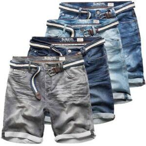 Sublevel Jeans Uomo Pantaloncini Pantaloni Corti Bermuda Denim Sweatpants