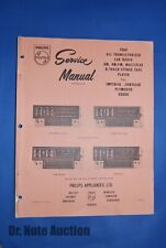 Philips Service Brochure for Car Radio Model CE76503, 1969 Imperial Chrysler Ply