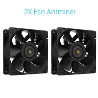 2Pcs 6000RPM Cooling Fan Replacement 4-pin For Antminer Bitmain S3 S5 S5+ S7 S9