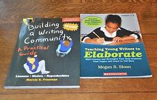 LOT 2 BOOKS - TEACHING YOUNG WRITERS TO ELABORATE & BUILDING A WRITING COMMUNITY