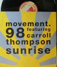"MOVEMENT 98 feat CARROLL THOMPSON ~ Sunrise ~ 12"" Single PS"