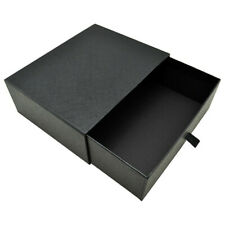 Black Luxurious Customized Paper Drawer Box Gift Belt Watch Packaging Cardboard