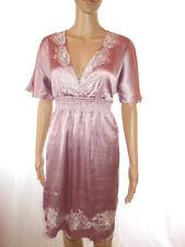 Vero Moda Design Womens Silky Satin Embellish Embroidery Casual Dress sz S/M AL7