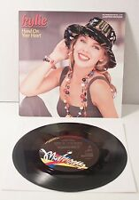 """Kylie Minogue HAND ON YOUR HEART 7"""" VINYL LIMITED EDITION 1989 Australian Import"""