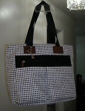 Fossil Bailey Black&White Polka Dot Ladies Large Tote Bag,Handbag,Purse new
