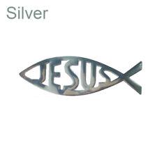 Hot 3D Car Chrome Decal Emblem Sticker Religious God JESUS Christian Fish Symbol