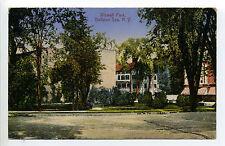 Ballston Spa NY (Saratoga Co) Wiswall Park , 1921