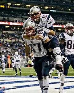 Tom Brady Rob Gronkowski New England Patriots Touchdown Celebration 8X10 Photo