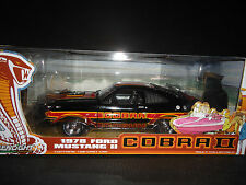 "1:18 GreenLight - 1978 Ford Mustang Cobra II Black ""free wheelin"" Movie"