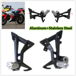 2PCS Motorcycle Rear Foot Pegs Rest Pads Foot Bracket Footrest Refit Shift Lever
