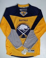 Reebok Authentic NHL Jersey Buffalo Sabres Team Yellow S NEW NWT & Matching Hat