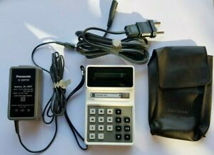 Panasonic PANAC 883 electronic Calculator-ac adaptor-case+-works!! Made in Japan