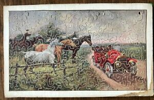 RARE LITTLE VINTAGE WOODEN JIGSAW  'NOT WANTED' MADE BY A PUZZLE CLUB