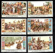Native North American Indians Cards Set  Liebig 1956 Canoe Horses TeePee Tent