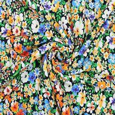 Baumwolle Jersey Stoff bunter Sommer Blumen Blume Garten Durham Court 150cm breit