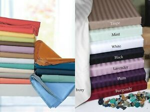 Soft Bedding 1000TC Organic Cotton 1 PC Bed Skirt US Size Solid/Striped Colors