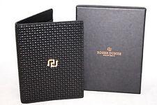 NIB ROGER DUBUIS Horloger Genevois Black Leather BifoldPassport Cover 4 x 5.25
