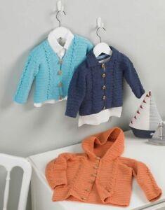 5204 Crochet DK Kids Cardigans Pattern Hayfield / Sirdar