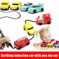 Inductive Truck Toy Car Truck Model Magic Follow Any Drawn Line Pen