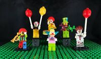 Lego Krusty plus Custom Clown Minifigures Lego Block Bases 6 Figures in lot NEW!
