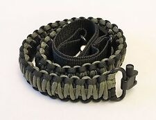 Black & OD Camo Paracord 550 Adjustable Gun Sling w/ Swivels Free Shipping!