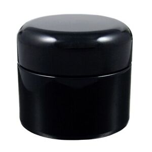 Miron Violet Glass Wide Neck Cosmetic/Herb Jar 30ml (Standard) with Black Lid