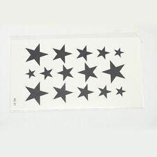 Einmal Tattoo Temporary Haut-Tattoos Stern Sterne Fasching Karneval neu