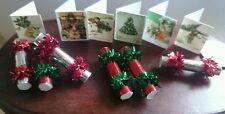 Casa De Muñecas Navidad Galletas 1:12th escala seis en un set con 6 Tarjetas de Navidad