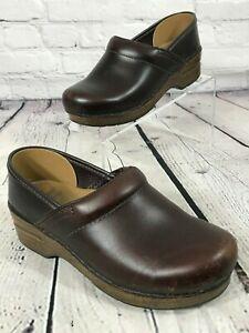 DANSKO Clogs Mahogony Brown Genuine LEATHER Size 36 / US 5.5-6