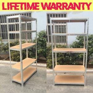 5 Tier Metal Shelving Unit Storage Racking Shelves Garage Warehouse Strong Shed