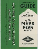 1940s Pikes Peak Travel Brochure Gray Line Limo Tours Inclide Cog Railroad CO