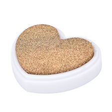 Heart Shape Ink Pad Oil Based Rubber Stamp for Paper Fabric Inkpad Carft BDA Gold