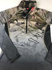 NWT Women Small UA Tech Faded ¼ Zip Under Armour Hunting LS Shirt 1300511 Camo