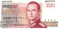 05 Luxembourg / Luxemburg P58a 100 Francs 1986 A000475 UNC