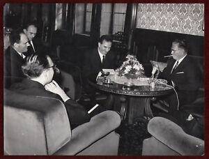 1967 Original Photo Josip Broz Tito Cigarillo Flowers Microphone YU SFRJ Meeting
