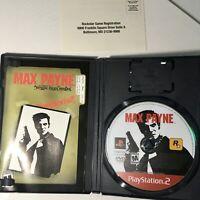Max Payne (Sony PlayStation 2 PS2, 2001) Black Label - Complete CIB