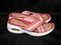 Cole Haan 5.5 Pink Sandals Slides Open Toe Cross Strap Shoes Walking Sole