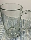 """Heavy 3lb Clear Crystal Beer Stein Mug Weighted Bottom 7""""Tall x 7"""" At Handle"""