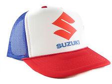 Suzuki motorcycles hat Trucker Hat mesh hat snapback hat red white blue
