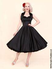 Satin Patternless Halter Neck Dresses for Women