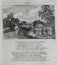 1679 Bibel Biblia Hosea Kupferstich Küsel