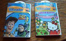 Lot of 2 Vtech V.Reader Disney Toy Story 3 & Hello Kitty New & Sealed