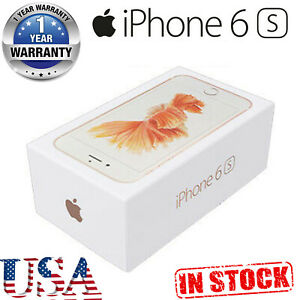 Apple iPhone 6s 128GB Rose Gold Factory Unlocked Sealed Box with 1 Year Warranty